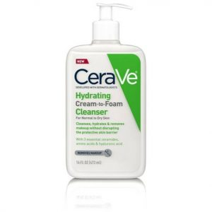 CERAVE HYDRATING CREAM TO FOAM CLEANSER-CERAVE HYDRATING-FOAM CLEANSER -CERAVE HYDRATING CREAM